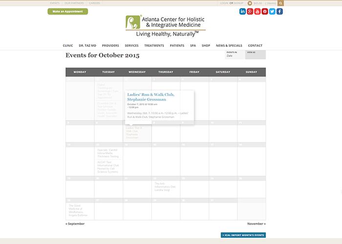 Online Events Calendar