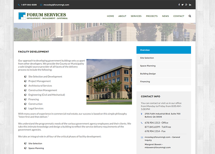 Forum Services Page