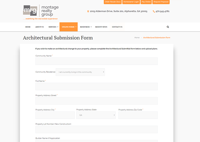 Montage Online Application Forms