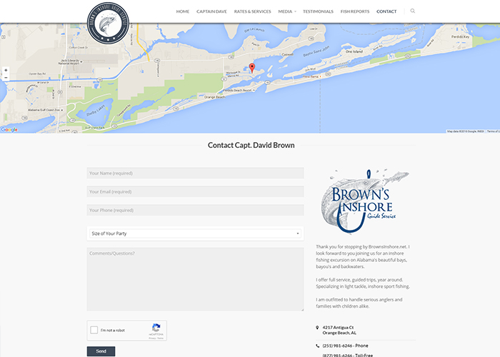 Brown's Inshore Guide Service Contact