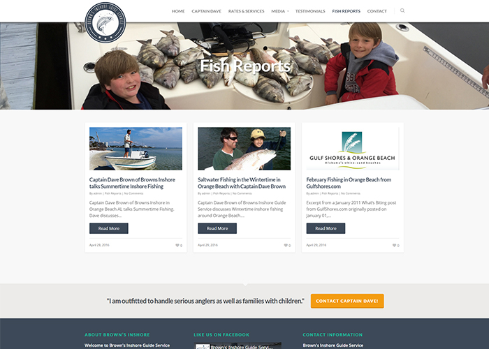 Brown's Inshore Guide Service Fish Reports